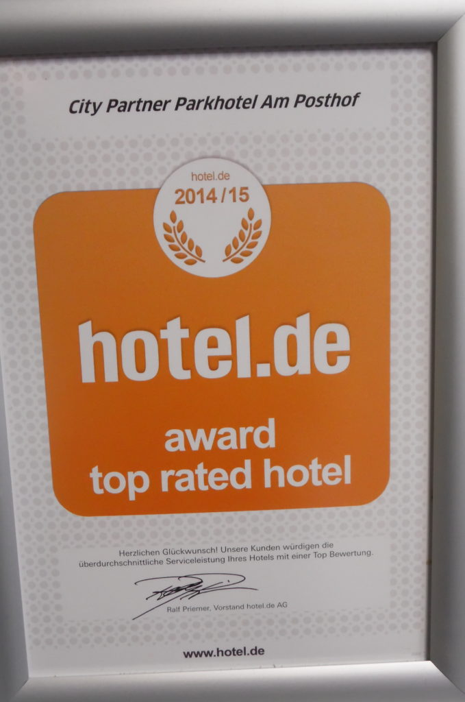hotel.de award – top rated hotel