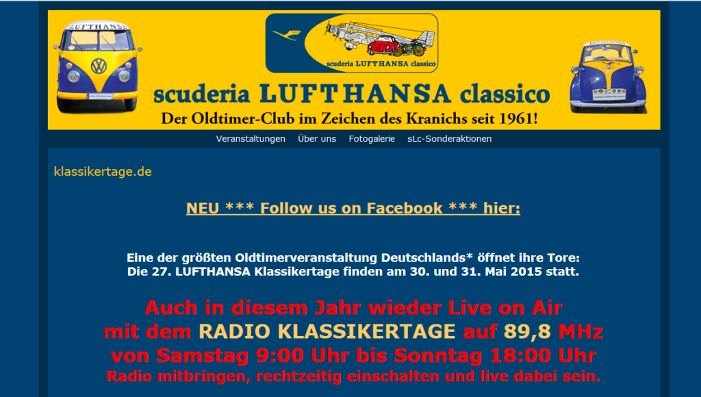 27. LUFTHANSA Klassikertage in Hattersheim am Main