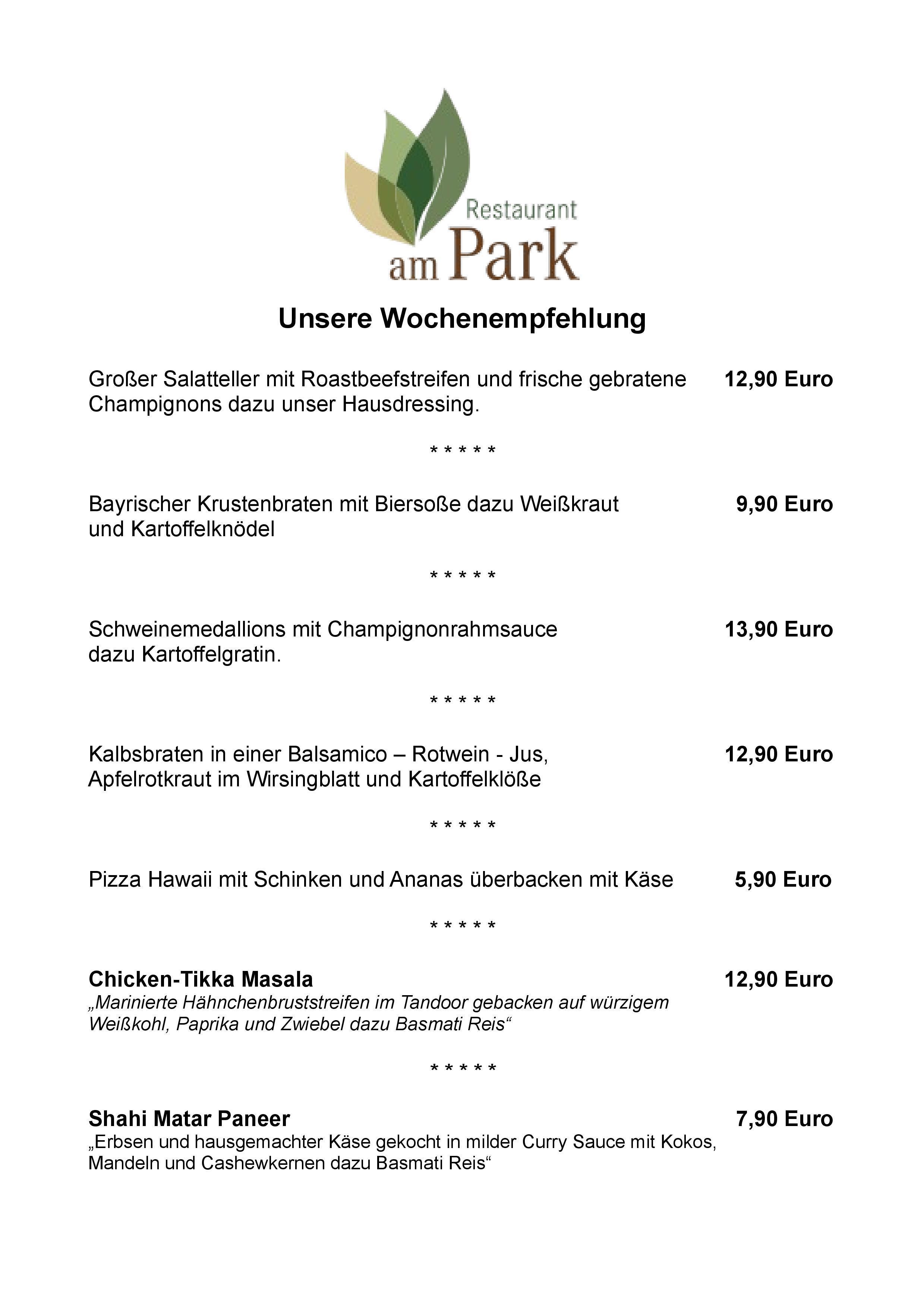 Restaurant am Park - Wochenkarte 30.11.2015 - 06.12.2015-page-001